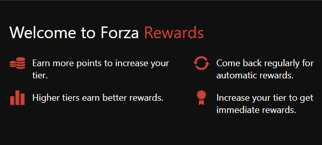 Loyalty Rewards and Forza Rewards – Forza Support